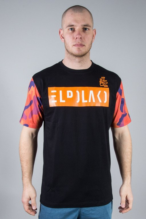 EL POLAKO T-SHIRT ORANGE CAMO BLACK