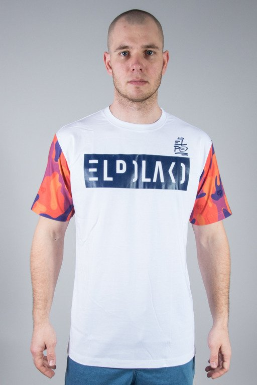 EL POLAKO T-SHIRT ORANGE CAMO WHITE