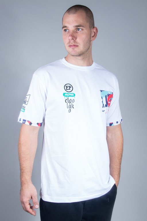 EL POLAKO T-SHIRT POCKET GRAFFITI WHITE