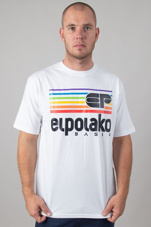 EL POLAKO T-SHIRT RAINBOW WHITE