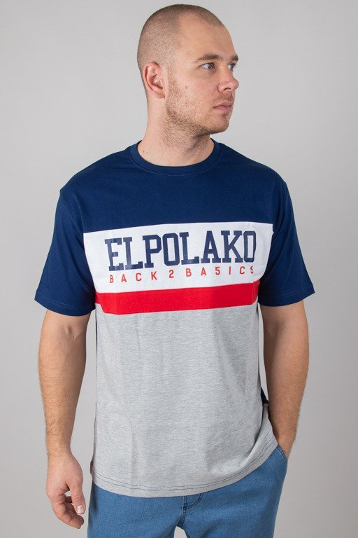 EL POLAKO T-SHIRT SCHOOL NAVY