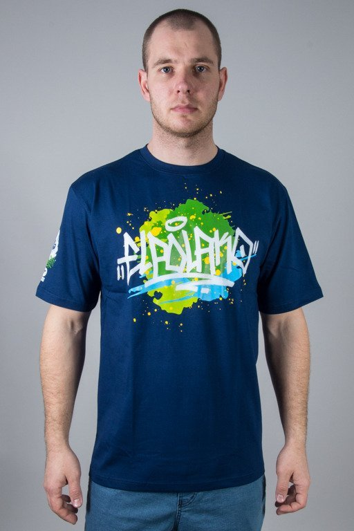 EL POLAKO T-SHIRT SPLASH NAVY