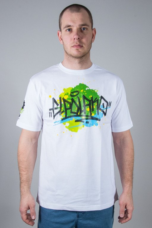 EL POLAKO T-SHIRT SPLASH WHITE