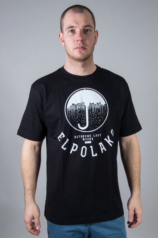 EL POLAKO T-SHIRT UMBRELA BLACK