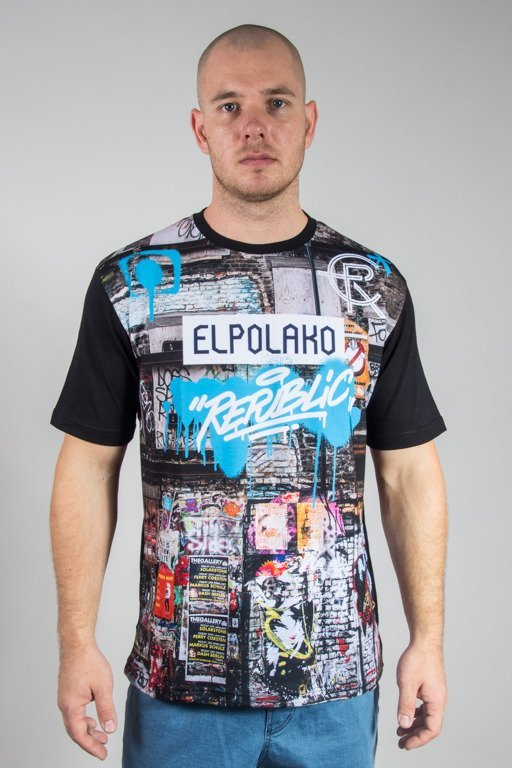 EL POLAKO T-SHIRT URBAN STREET BLACK