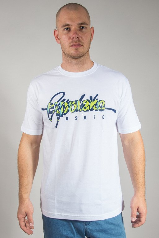 EL POLAKO T-SHIRT WRITTEN WHITE