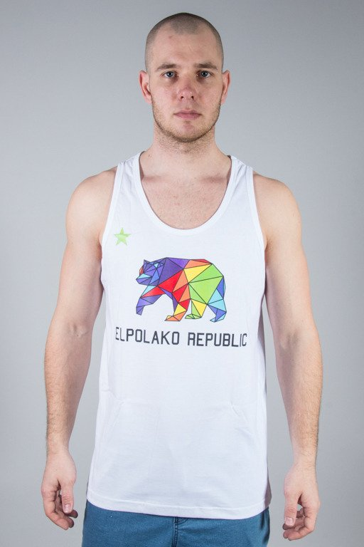 EL POLAKO TANK TOP REPUBLIC WHITE