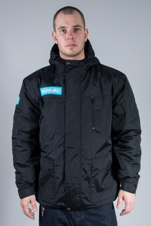 EL POLAKO WINTER JACKET FLYERS ALASKA BLACK-BLACK