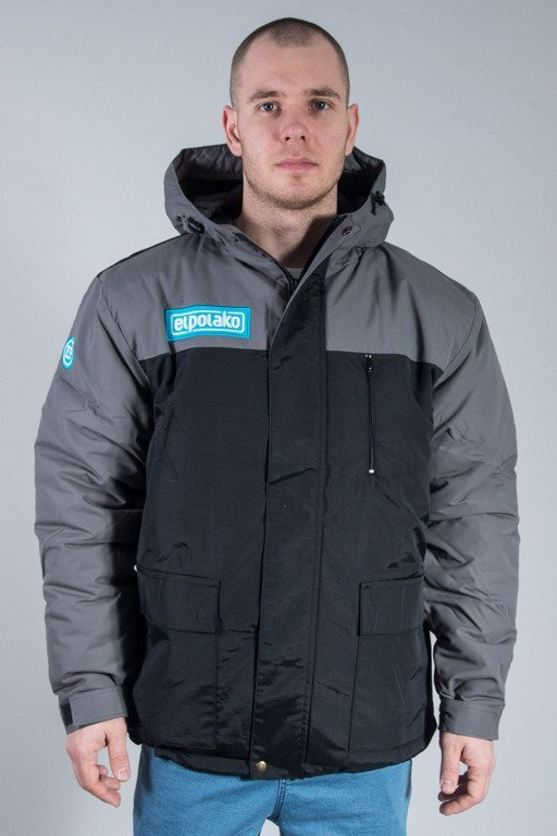 EL POLAKO WINTER JACKET FLYERS ALASKA GREY-BLACK