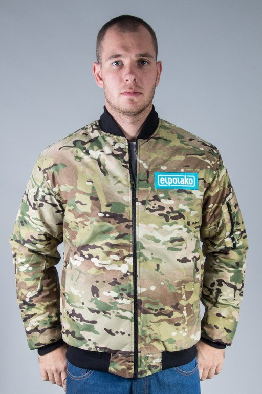 EL POLAKO WINTER JACKET FLYERS BASEBALL AMERICAN CAMO