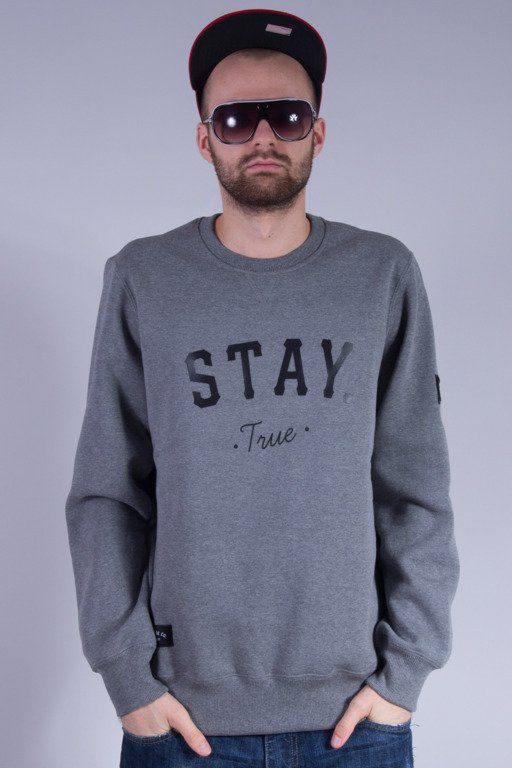 ELADE BLUZA BEZ KAPTURA STAY GREY