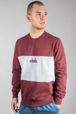 ELADE CREWNECK TWO TONE BRICK