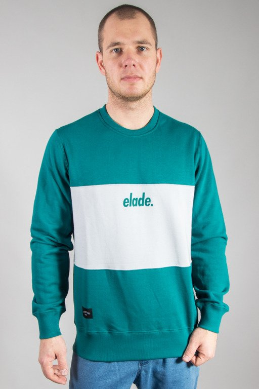 ELADE CREWNECK TWO TONE GREEN