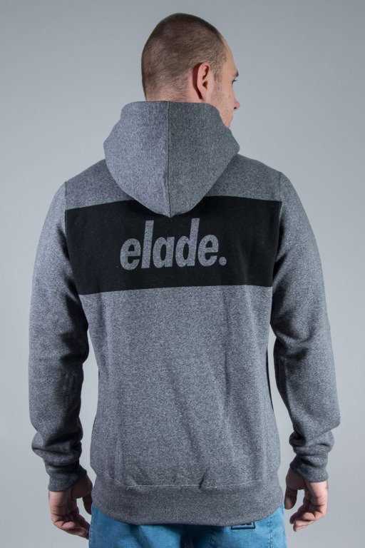 ELADE HOODIE ZIP BOX LOGO BLACK GREY