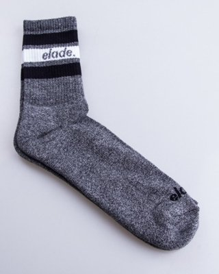ELADE SOCKS STRIPES PEPPERS-BLACK