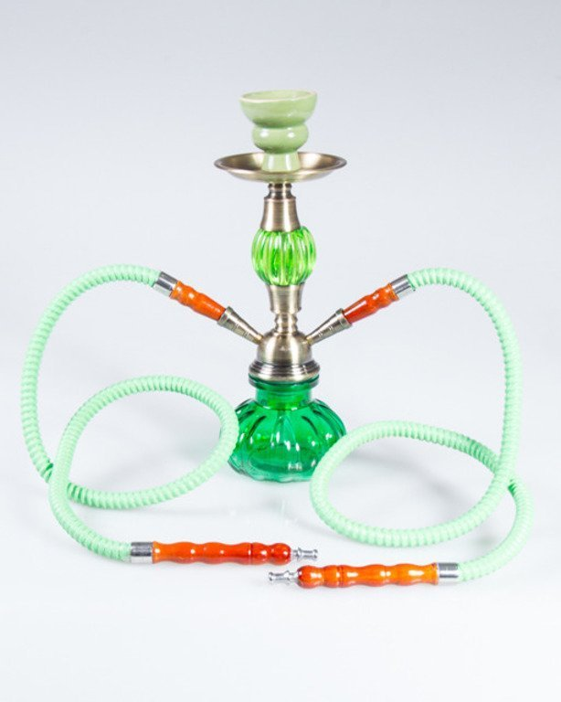 FAJKA SHISHA GLASS BULLET DOUBLE GREEN