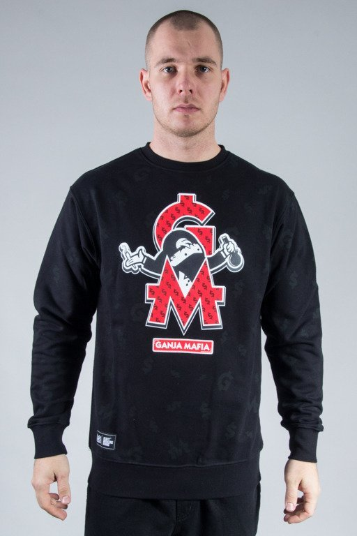 GANJA MAFIA CREWNECK DOM GM POLY BLACK