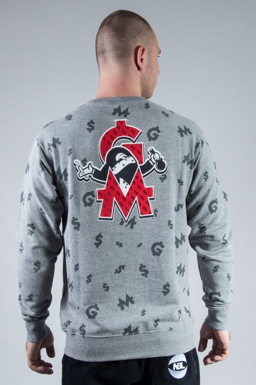 GANJA MAFIA CREWNECK DOM GM POLY GREY