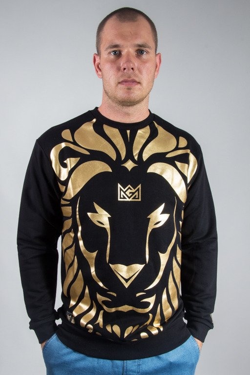 GANJA MAFIA CREWNECK KA\'LION BIG BLACK-GOLD