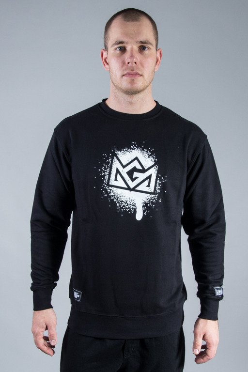 GANJA MAFIA CREWNECK SPRAY CROWN BLACK