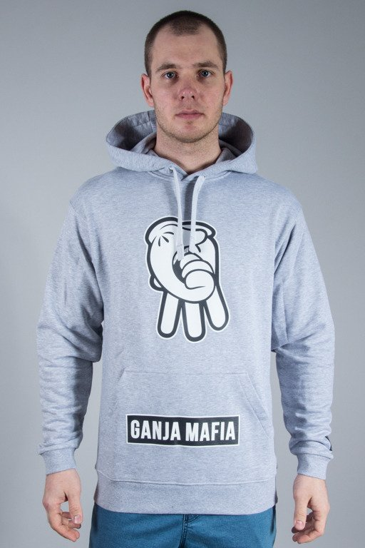 GANJA MAFIA HOODIE CARTOON SIGN MELANGE