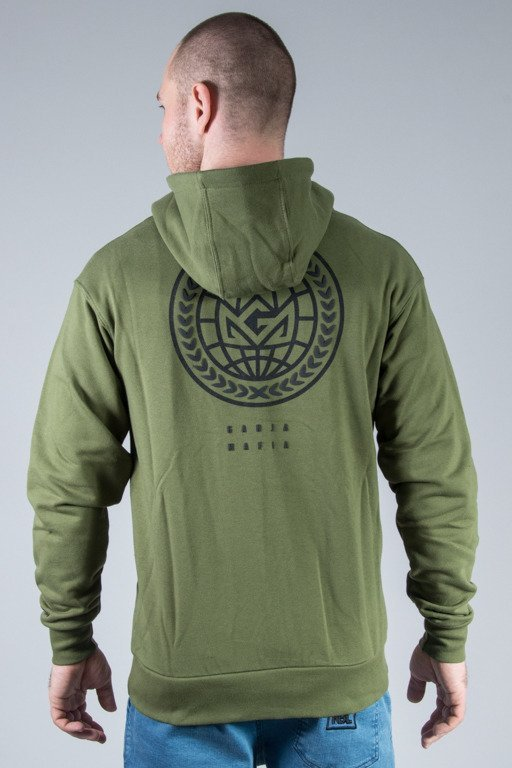 GANJA MAFIA HOODIE ZIP GLOBAL CHAMPION KHAKI