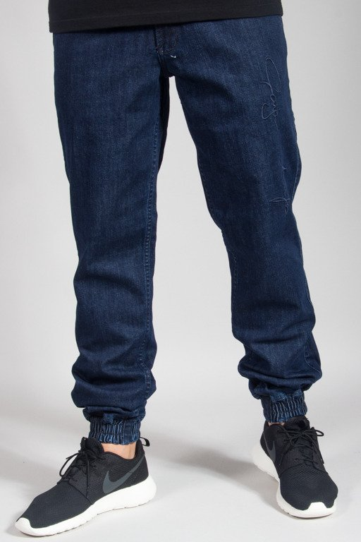 GANJA MAFIA PANTS JEANS JOGGER SIGNATURE BIG DARK