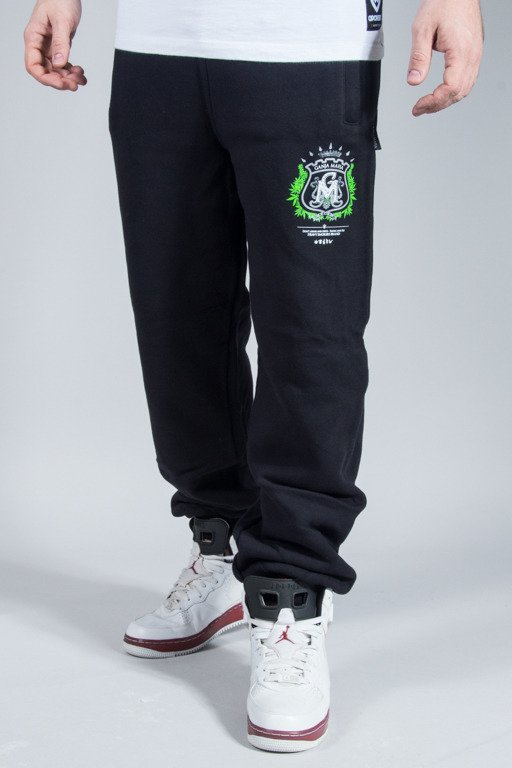 GANJA MAFIA SWEATPANTS HERB BLACK-GREEN OUTLET