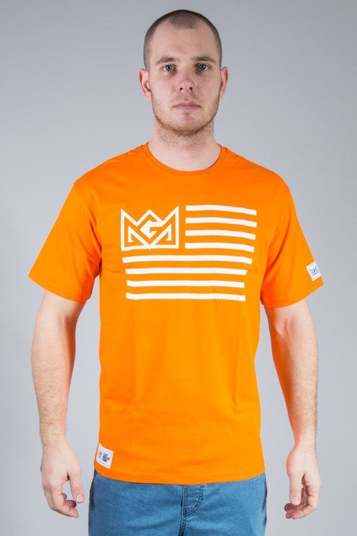 GANJA MAFIA T-SHIRT FLAG ORANGE