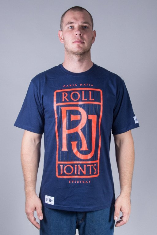 GANJA MAFIA T-SHIRT ROLL JOINTS BLUE