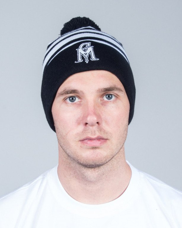 GANJA MAFIA WINTER CAP GM STRIPES BLACK-WHITE