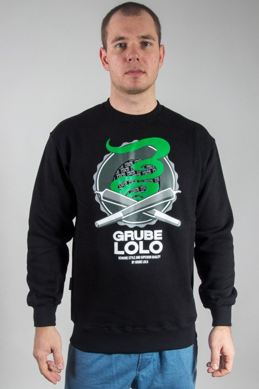 GRUBE LOLO CREWNECK DOUBLE JOINTS BLACK