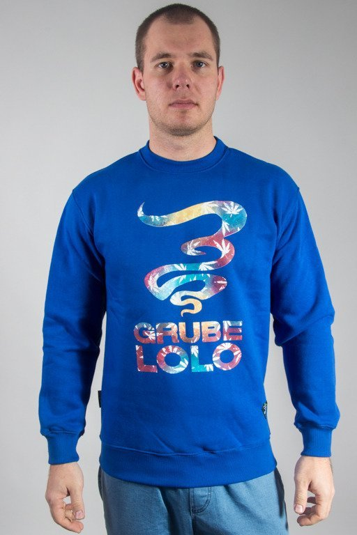GRUBE LOLO CREWNECK DYMEK COLOR BLUE