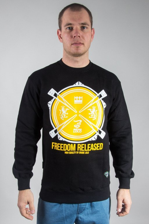GRUBE LOLO CREWNECK FREEDOM RELEASED BLACK
