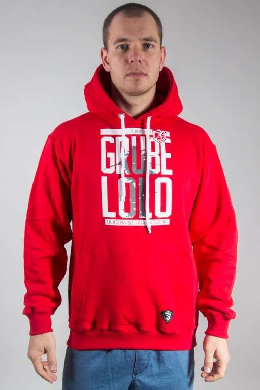 GRUBE LOLO HOODIE LOGO PISANE RED