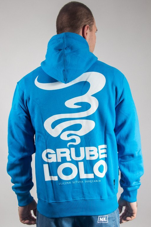GRUBE LOLO HOODIE ZIP SMALL LIGHT BLUE