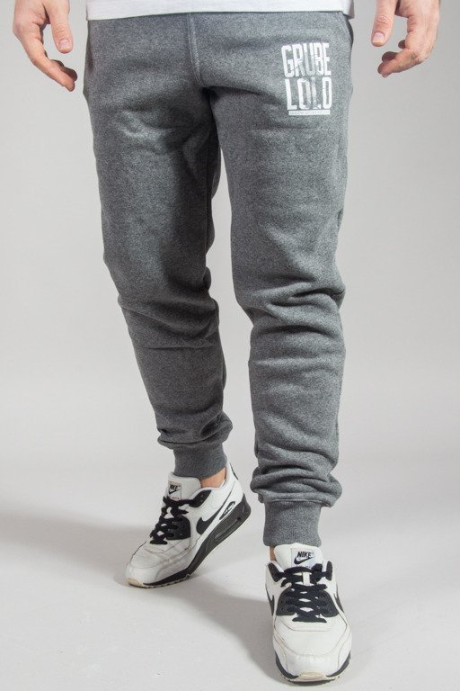 GRUBE LOLO SWEATPANTS LOGO PISANE  GREY