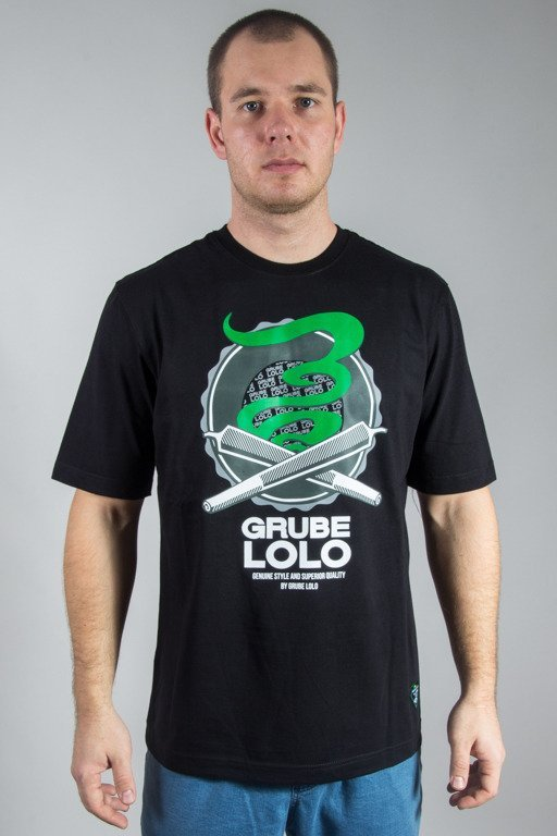 GRUBE LOLO T-SHIRT DOUBLE JOINTS BLACK
