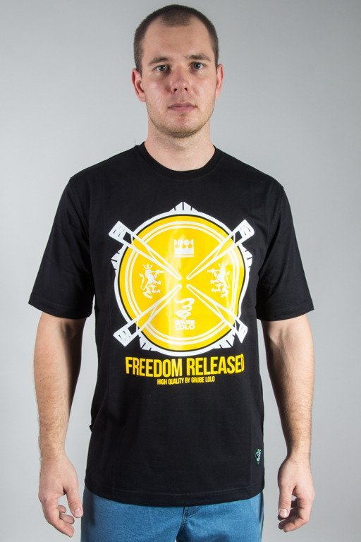 GRUBE LOLO T-SHIRT FREEDOM RELEASED BLACK
