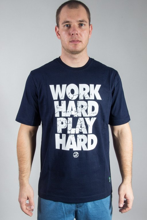 GRUBE LOLO T-SHIRT WORK HARD NAVY