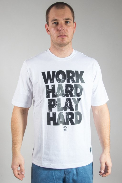 GRUBE LOLO T-SHIRT WORK HARD WHITE