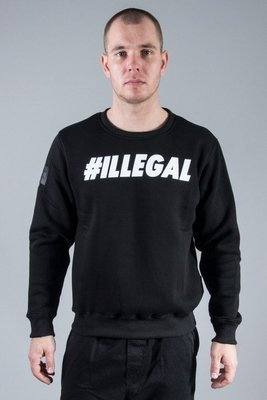 ILLEGAL CREWNECK ILLEGAL BLACK