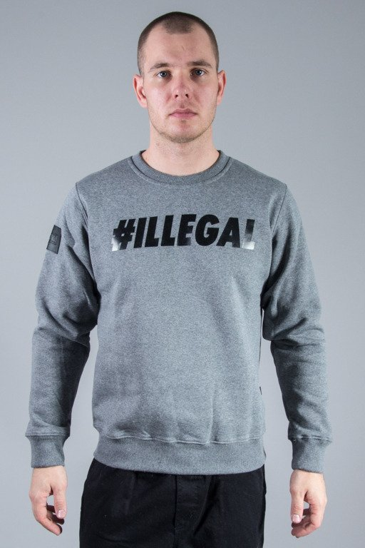 ILLEGAL CREWNECK ILLEGAL GREY