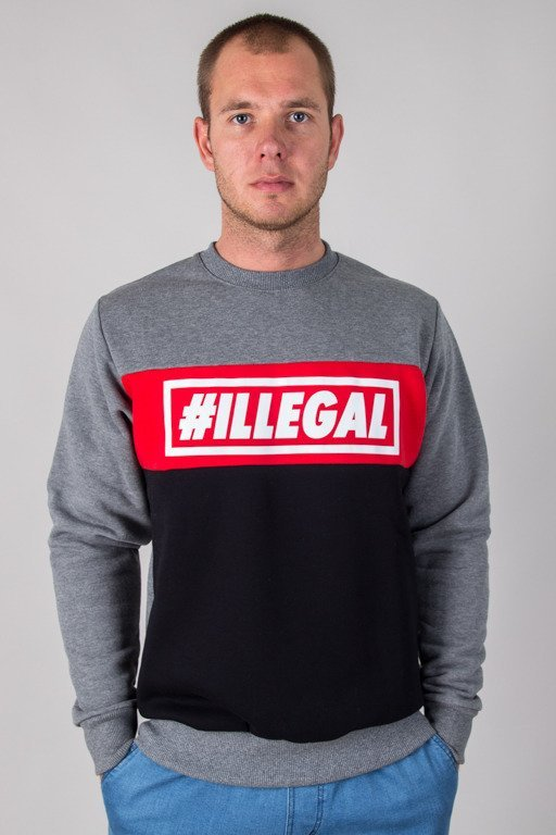 ILLEGAL CREWNECK ILLEGAL RED GREY