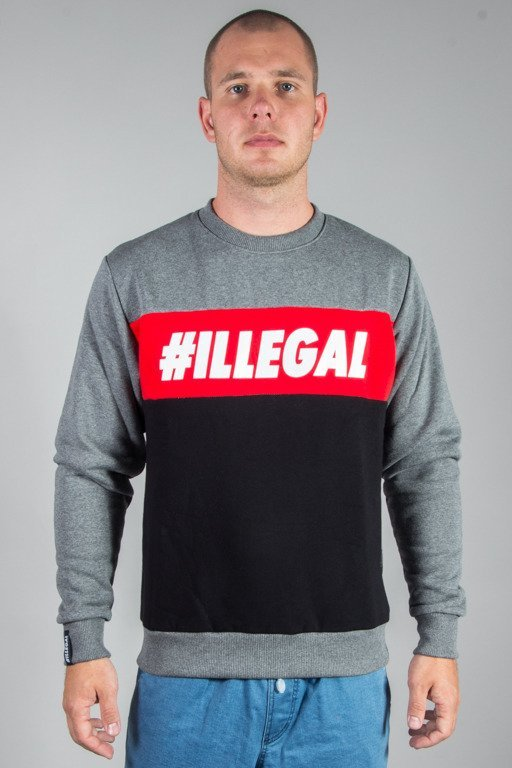 ILLEGAL CREWNECK ILLEGAL RED MELANGE