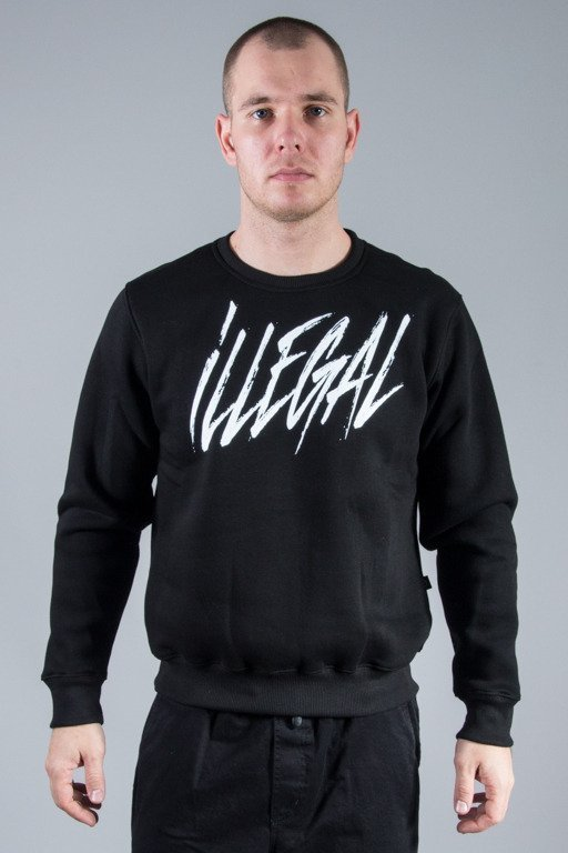 ILLEGAL CREWNECK ILLEGAL TAG BLACK