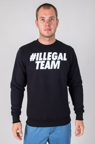 ILLEGAL CREWNECK TEAM BLACK