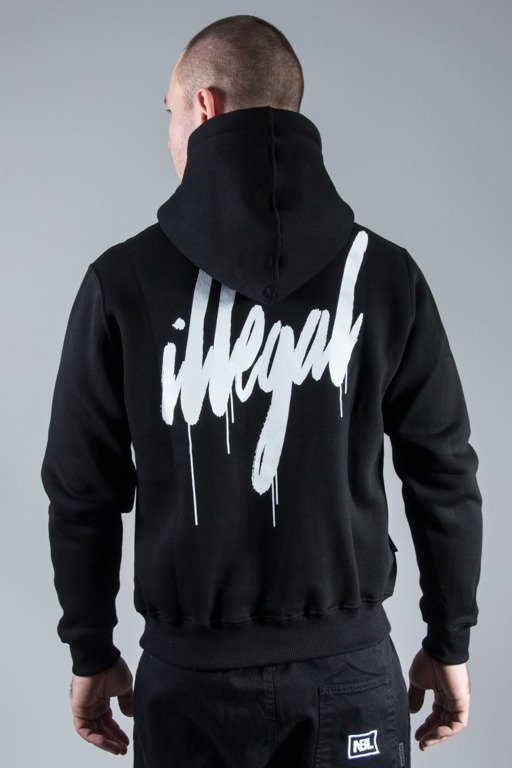 ILLEGAL HOODIE ILLEGAL SMALL TAG BLACK