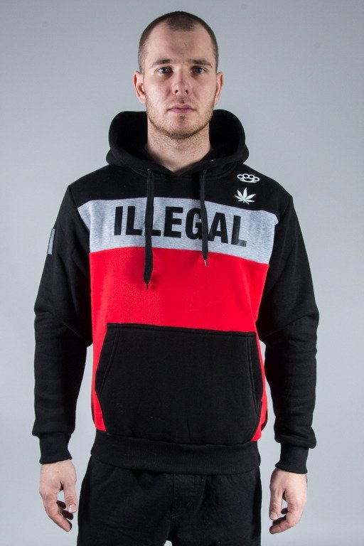 ILLEGAL HOODIE RED BOX BLACK
