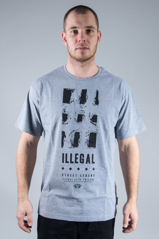 ILLEGAL T-SHIRT KRATY GREY